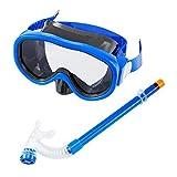 Kids/Children Snorkel Set, Swimming Goggles Semi-Dry Snorkel Equipment for Boys and Girls Junior