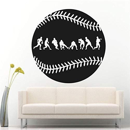 Wandaufkleber für berühmte sportspiele zimmer, wanddekoration für action, baseball wanddekoration, wandtattoos für zu hause, vinyl kunst 57 * 57 cm