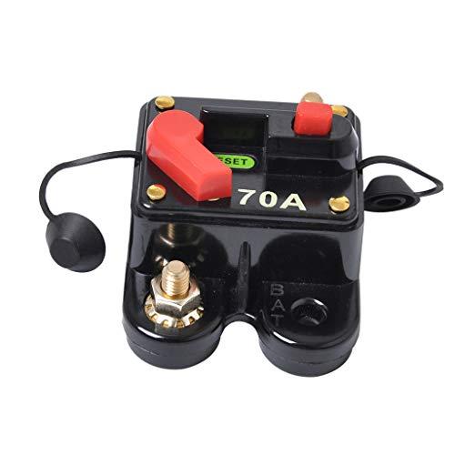 MagiDeal Auto Auto Marine Inline Schutzschalter 70 Ampere Manuell Zurückgesetzt Audiosicherungshalter Marine 70 Amp