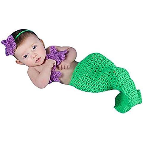 Hrph Preciosa foto del bebé recién nacidos Puntales ganchillo sirena Traje Newset sirenas apoyo de la