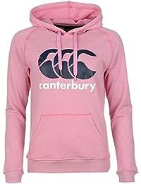 CANTERBURY Logo Pull à capuche pour femme Rose Marl Sweat-shirt à capuche sport Rugby