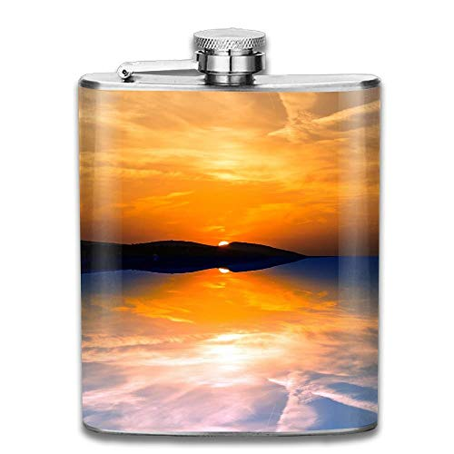 Evening Reflection Sunset Sky Gifts Top Shelf Flasks Stainless Steel Flask