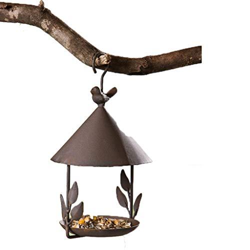LULUDP Futterstationen für Wildvögel Eisen Old Bird House, Vogelhäuschen, Handwerk Ornamente, Eisen Anhänger, Gartendekoration Vogelfutterstation
