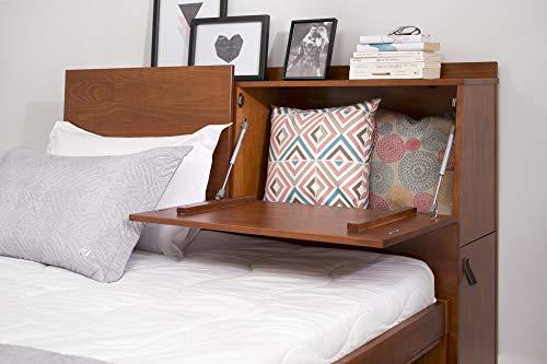 Memomad Kopfteil für Bett Bali - Funktions-Kopfteil mit viel Stauraum - massives Holz und MDF (Für Betten bis 160cm breit, Karamell)