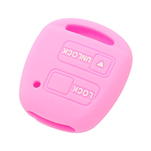 fassport-silicone-cover-skin-jacket-fit-for-toyota-lexus-2-button-remote-key-case-cv2421-pink