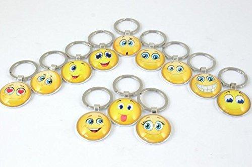 Subito disponibile 12 pezzi portachiavi emoticon emoji smile 1 a scelta bomboniera
