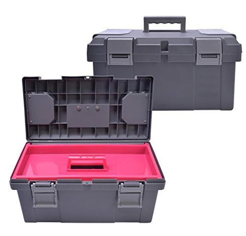 QHP Putzbox Giant mit herausnehmbarem Innenteil und Griff in Kontrastfarbe (Grau)