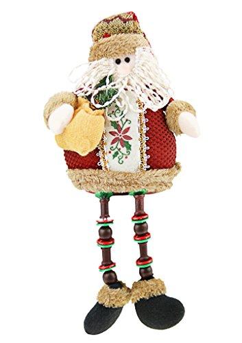 Poupée et Accessoire de Noël Bonhomme de Neige Assis Jouet de Noël Peluches Poupée Toys Dolls Accessoire Créatif Ornement Charmante Cadeau Noël/ Anniversaire