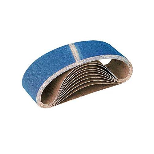 Preisvergleich Produktbild 10 RETOL Schleifbänder für Handbandschleifer, 533 x 75 mm, K80