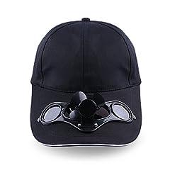 Idea Regalo - forfar Cappello Fan solare, Regolabile Energia solare Escursioni Pesca raffreddamento Cap fan Per Baseball Golf Pesca Estate Outdoor