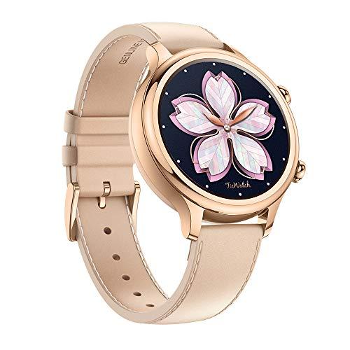 Ticwatch Reloj Inteligente y clásico Mobvoi C2 con Sistema operativo Wear OS de Google, IP68 Resistente al Agua y Sudor, Google Pay, Compatible con iPhone y Android