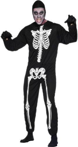 (Horror Halloween Karnevall Herren Kostüm Phantom Sensenmann Skelett)