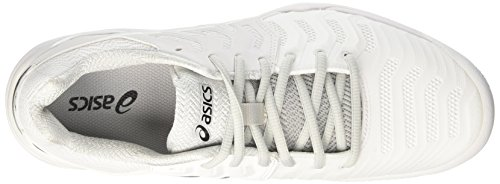 Asics Herren Gel-Resolution 7 Clay Tennisschuhe Elfenbein (White/silver)