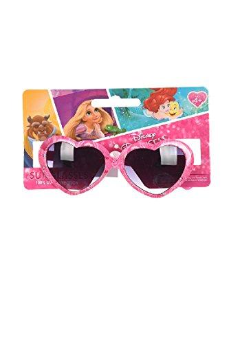 Party Factory Disney Princess Kinder Sonnenbrille Pink mit herzförmigen Gläsern