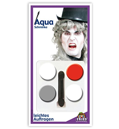 HALLOWEEN Aqua Schmink-Set Geist Horror Schminke Set 5tlg 4 Tiegel + (Einfach Harry Kostüme Halloween Potter)