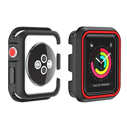 Ouneed Für Apple Watch Series 1/2/3 42mm Hülle, Robuste Rüstung Bumper Resilient Shock Absorption Protected Case Cover for Apple Watch Series 1/2/3 42mm (H) Rüstung Series Case