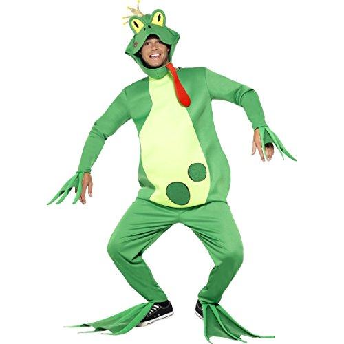 NET TOYS Frosch Tierkostüm Froschkönig Kostüm Märchen Froschkostüm Prinz Märchenkostüm Ganzkörper Prinzenkostüm Plüsch Faschingskostüm Karnevalskostüme Tier