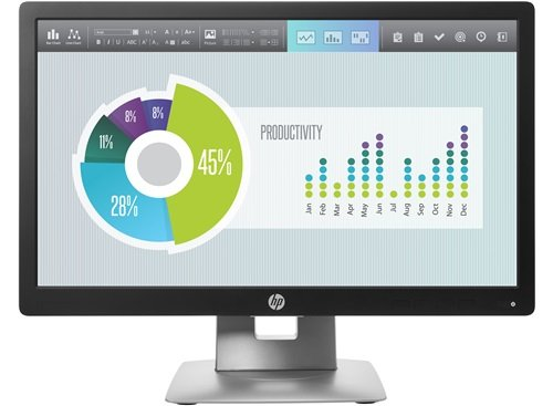 HP EliteDisplay E202 M1F41AA 50,8cm (20 Zoll) Monitor (HD, IPS, 7ms) schwarz/silber