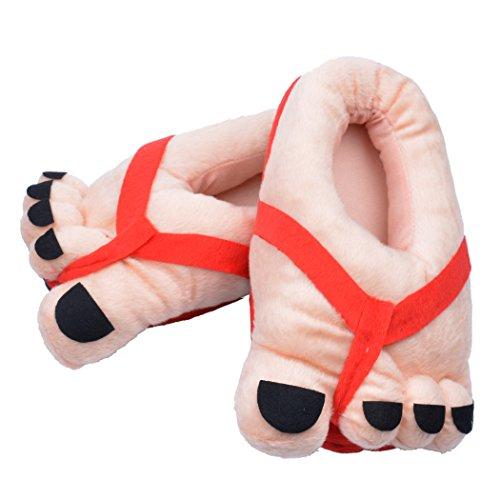 inkint-Zapatos-para-Adultos-Toe-Cubierta-Pies-Grandes-Suaves-Calientes-de-la-Felpa-Zapatillas-Regalo-de-la-Novedad