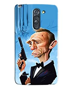 Omnam Man With Gun In Cartoon In Pause Printed Designer Back Cover Case For LG G3 Stylus
