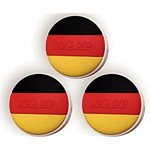 3 Tennis Vibrationsdämpfer Deutschland Nationalflagge