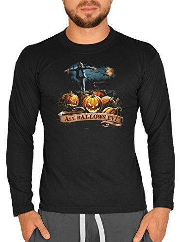 rren T-Shirt Horror All Hallows Eve Langarmshirt Grusel Shirt Grusel Kostüm Longshirt für Männer Männershirt Leiberl ()