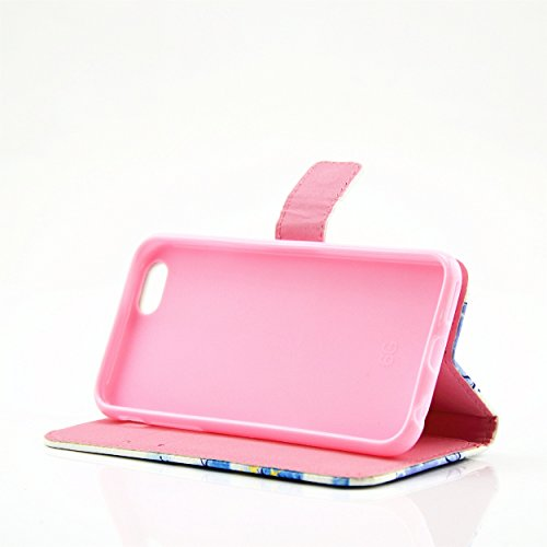 Ecoway Case / Cover / Téléphone / Pouch Elegant 3D incrusté Bling Crystal Glitter Housse en cuir strass diamant PU avec support dans BookStyle poches de carte de crédit de fonction avec intérieur doux ange
