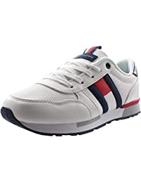 c8e6ef7b5647ac Tommy Hilfiger T3B4-30343-0208 Off White Eco Leather Youth Trainers