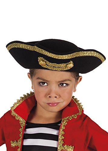Kostüm Verwegene Junge Piraten - Kinder Größe Deluxe Messingknöpfe Piratenhut