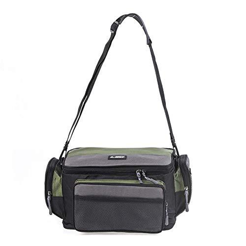 VCB Zweifarbige Oxford-Stoff-Angeltasche wasserdichte Outdoor-Umhängetasche Tasche - grün und grau