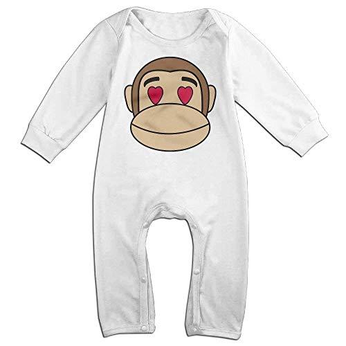 MUAIKEJI Monkey Faces Long Sleeve Baby Romper Bodysuit Outfits Clothes Monkey Infant Bodysuit