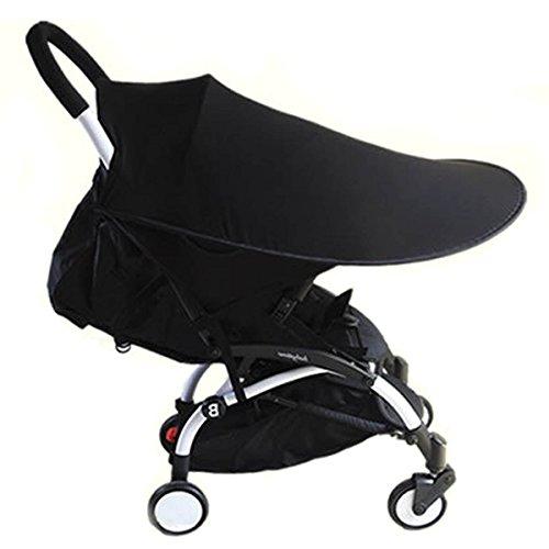 Adesugata Cochecito de Bebé,Sombrilla Para Cochecito,Bebé Carrito Parasol, UV Protección Rayos Para Toldo Carritos y Sillas de Paseo Accesorios,Negro