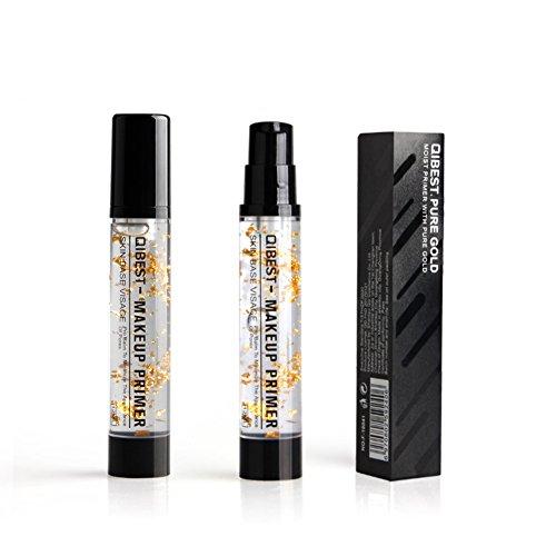 Apprêt Maquillage Or 24K, Moresave Hydratant Lèvres Hydratant Anti-Âge Huile Essentielle Maquillage Visage Base Cosmétique, 15ml