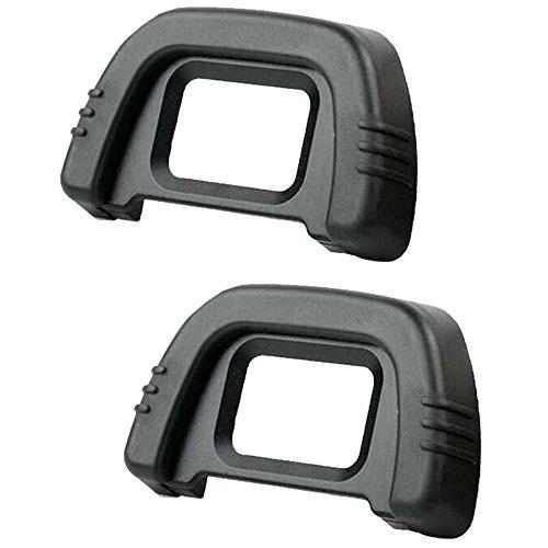 com-four® Ersatz-Augenmuschel und Okular für Nikon SLR Kameras D600, D610, D7000, D90, D200, D80, D70S, D70 (2 Stück)