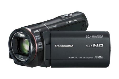 Panasonic HC-X920EG-K Videocamera Full HD, 3D Ready, 3MOS, WiFi, Zoom Ottico 12x, Grandangolo 29.8 mm, Stabilizzatore 5 Assi, Microfono Zoom 5.1