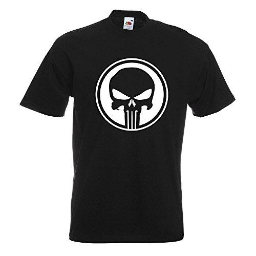 KIWISTAR - Punisher USA - Tank Totenkopf T-Shirt in 15 verschiedenen Farben - Herren Funshirt bedruckt Design Sprüche Spruch Motive Oberteil Baumwolle Print Größe S M L XL XXL Schwarz