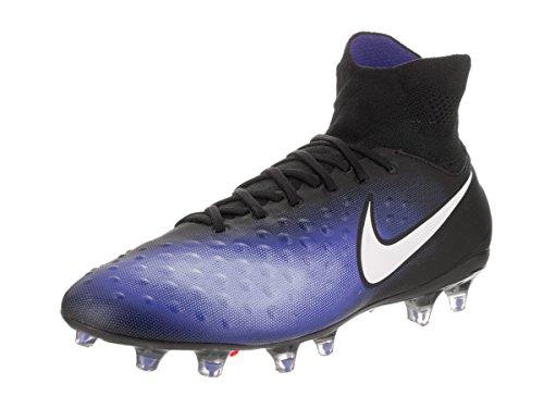 Nike 843812-018, Scarpe da Calcio Uomo, Nero/Blu, 45 EU