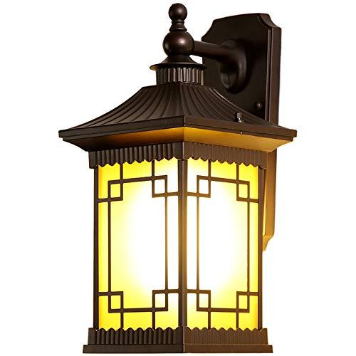 Lampe murale d'extérieur lampe de jardin fleur rétro lampe d'extérieur étanche