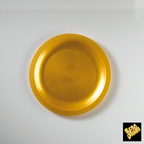 Piatti Plastica Round Dessert PP 185mm cfz 25pz (Oro)