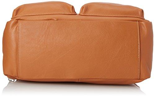 CTM Borsa a mano e Spalla da Donna, 36x26x15cm, Vera pelle 100% Made in Italy Cuoio