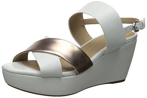 Sandali e infradito per le donne, colore Bianco , marca GEOX, modello Sandali E Infradito Per Le Donne GEOX D THELMA C Bianco, White Rose, 35