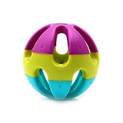 Dairyshop uppy Pet Dog Cat Puppy Jingle Bell Ring Ball Round Roll Fetch Play Chewing Toy