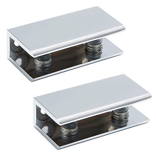Neoteck Pince De Verre 8 PCS 10-12mm En Acier Inoxydable 304 Clip En Verre Pince Support Dos Plat Finition Chromig pour Balustrade