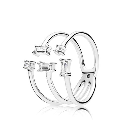 Pandora Damen-Ringe 925 Sterlingsilber mit Ringgröße 50 197527CZ-50