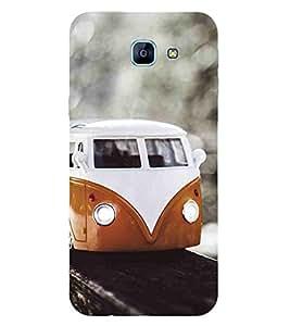 For Samsung Galaxy A8 (2016) :: Galaxy A8 2016 (Dual Sim) :: Galaxy A8 2016 Train , Black, Train Track, Lovely Pattern, Printed Designer Back Case Cover By CHAPLOOS