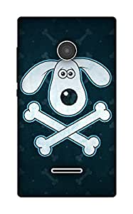 The Racoon Lean Dog and The bone hard plastic printed back case / cover for Microsoft Lumia 435