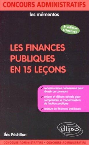 Finances Publiques en 15 Lecons Deuxième Edition