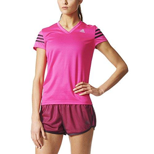 adidas Damen T-Shirt Response Cap Sleeve, Shock Pink /Mineral Red, S, AI8272 (Shirt Cap Sleeve Damen)