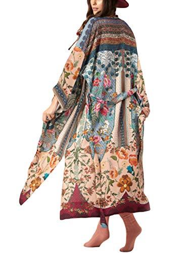 Bsubseach Mujer Ropa Playa Estampado Floral Kimono