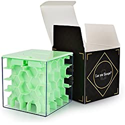 SainSmart Jr. Money Maze Puzzle Box Magic Box Brain Teaser Puzzles For Kids and Adults IQ Game Gift for Kids, Green